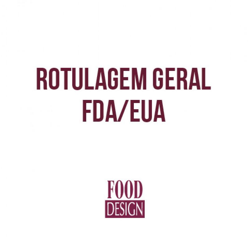 Rotulagem Geral FDA/EUA